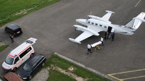 Patiententransport mit Flugzeug